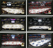 "Choose Your NHL Hockey Team 12 x 20"" Framed 2014-2015 Signature Rink Arena Photo"
