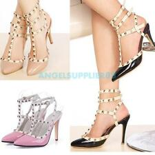 A#S0 Womens Ladies High Stiletto Heel Party Wedding Court Shoes Size US5-8