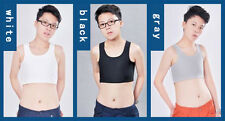 Les Lesbian Slim Fit Breathable Top Vest Tomboy Strapless Chest Breast Binder