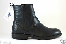 U.S. Polo Assn. leather boot with zip F/W 15 stivaletto in pelle con zip A/I 15