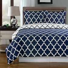 Meridian Navy 4pc Comforter set 100%Egyptian Cotton (Available in 2 Sizes)
