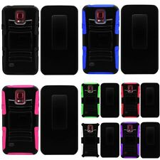 For Samsung S5 Sport Side Stand Holster Heavy Duty Belt Clip Cover Case