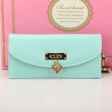 2014 Korean Style Women Button PU Leather Wallet Clutch Purse Long Handbag Bag