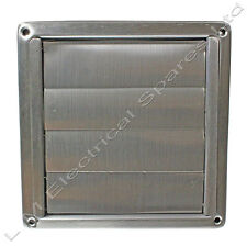 Stainless Steel Square External Extractor Wall Vent & Gravity Flaps 100 125 150