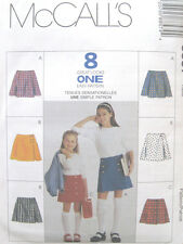 Childs Girls A Line Skirt Sewing Pattern Pleat Front Vary Elastic Back 8857