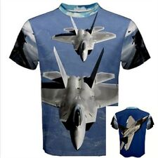 F-22 Raptor Stealth Aircraft  pilot Airforce Fighter JET Plane Full T-SHIRT  JT3
