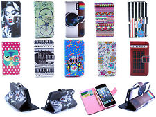New Folio Flip Stand Painting Wallet Card Magnetic Case Cover for LG G3 G2 mini
