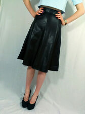 ♥New RIVER ISLAND Black Leather Look A Line Long Skirt Size 8 10 12 14 16 ♥