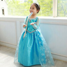 CHEAP New Kids Frozen Princess Elsa Cosplay Costume Party Fancy Ball Gown Dress