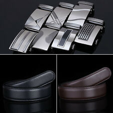 2015 New Fashion Men's Automatic Buckle Belt Leather Strap Belt Free shipping