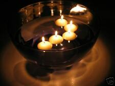 50 Wedding / Pool Party Round Floating Candle - white / ivory, unscented