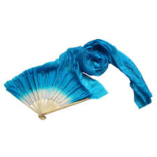 Novelty Fad 1.8m Hand Made Belly Dance Dancing Bamboo Long Fans Veils WBCA