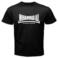 MUHAMMAD ALI The *People's Champion Boxing Legend Men's Black T-Shirt Size S-3XL