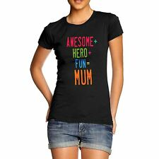 Womens Cotton Novelty Funny Design  Awesome Mum T-Shirt