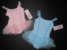 NWT Body Wrappers Princess Aurora 2381 ruffled front skirted leotard Pink Blue