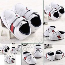 US 2014 cool kid baby boys 0-18months crib running shoes sneaker white soft fit