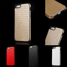 "For Apple iPhone 6 4.7""/Plus 5.5"" Soft TPU + PU Leather Impact Back Case Cover"