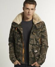 New Mens Superdry Ultimate Service Jacket Camo Green