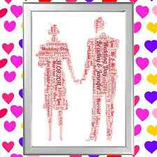 WORD ART PERSONALISED GIFT FOR HER OR HIM ROMANCE LOVE ANNIVERSARY CHRISTMAS ETC