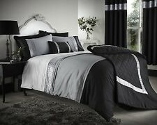 Black Grey Silver Duvet Covers Bedding Bed Set OR Bedspread, Cushion or Curtains
