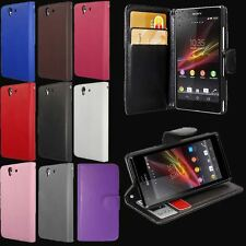 Flip Leather Wallet Case Cover Stand Pouch For Various Sony Xperia Phones Models