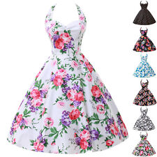Floral Rockabilly Dress   LA FAST❤ Housewife Vintage Retro 50s Swing Party Pinup