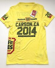 NEW Reebok CrossFit Games 2014 Carson CA Men's Limited Edition Yellow T-Shirt