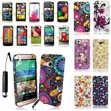 PRINTED SILICONE RUBBER GEL CASE COVER+SCREEN FILM+STYLUS FOR MANY PHONES MODELS
