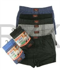 6 Pairs Men's Check Boxer Shorts Boxers, Designer Cotton Underwear,  S M L XL