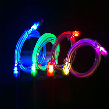 20cm Light Up LED Crystal USB Data Sync Charger Cable For HTC LG Samsung Galaxy
