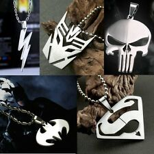 HOT Marvel Super Hero Steel Chain Pendant Necklace Cosplay Anime Fashion