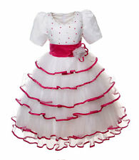 NEW Flower Girl Bridesmaid Party Pageant Wedding Dress Cerise Pink Size 3-8 Z167