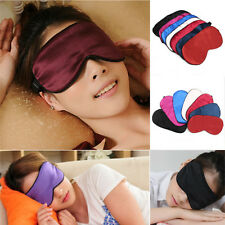 100% Pure Silk Soft Eye Mask Sleeping Aid Shade Cover Travel Relax Blindfold NEW