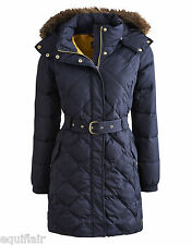 Joules Montbel Long Belted Quilted Coat - (R) - Marine Navy - Autumn Winter 2014