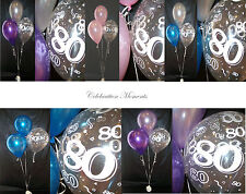 80th Birthday Party Helium Balloon Decoration DIY Clusters Kit 20 tables