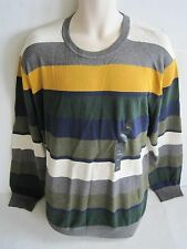 NEW BANANA REPUBLIC Mens Mutli Color Striped Crew Neck Sweater Size XXL NWT