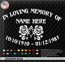 In Loving Memory of Decal Window Sticker Personalized Memorial Tribute for car