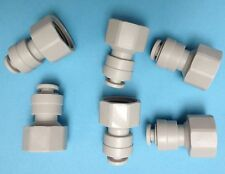 "Water Filter/RO Inlet Tap Connector Push-Fit 1/2""-1/4"""