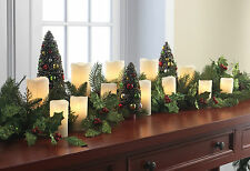 """NEW Raz Ivory Electric Flameless Pillar Christmas Candle Strand 7"""" or 5"""" Avail."""