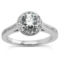 0.33ct Infinity Semi Mounting Diamond Engagement Ring Center O.50Ct Gold
