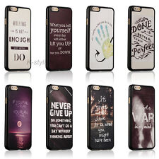 Life Inspirational Quotes Hard Skin Cover Case For Apple iphone SE 4 4s 5 5c 5s