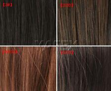 "CHEAP SALE NEW 4 Color 23"" Clip On Hair Extensions long Straight Natural 60CM ZT"