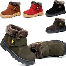 Girls Boys Winter Boots Kids Snow Boots Children Cotton Warm Leather Shoes
