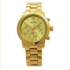 Stainless Steel Outfits Silver Gold Rose Two Tone Casual Unisex  Men Women Watch