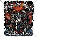 REAP THE ROAD REAPER BIKER TSHIRT FREE HARLEY STICKER