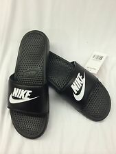Nike Benassi JDI sandal flip flop-343880 090-Just do it-NIB-US men size-blk/wht