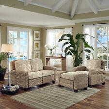Beach Coastal 3 Pc Set Living Room Sunroom Porch Florida Room Tropical Furniture