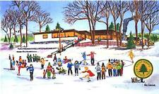 Rocky Woods Reservation Giclee Art Print Medfield MA Pond Hockey Skating Ice