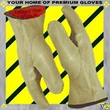 Soft Pigskin Winter Red Insulated Lined Leather Work Driver Gloves Men Women