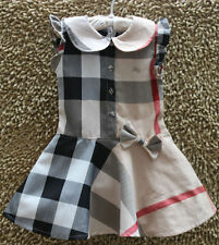 GIRLS Baby Toddler Kid's Clothes Red Black Sleeveless Classic Plaid Dress